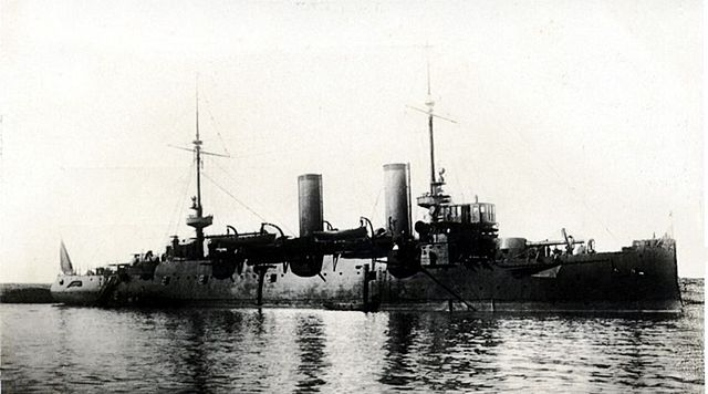 The cruiser Cataluña in 1914