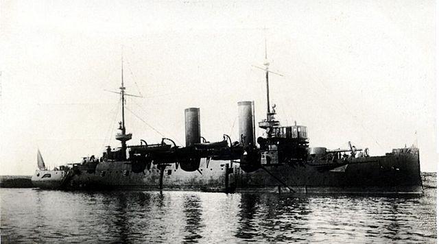 The cruiser Cataluña in 1914