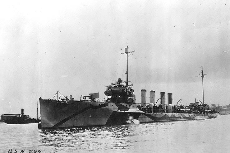 USS Conyngham DD-58 in 1918