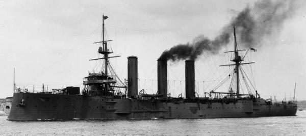 HMS Kent leaving Portsmouth