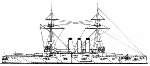 IJN Shikishima blueprint