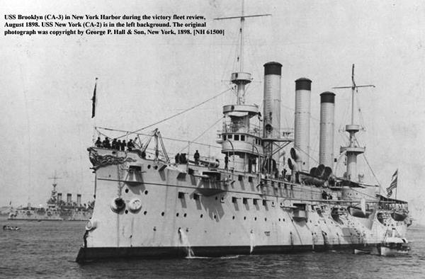 Brooklyn at the victory parade of the fleet in August 1898