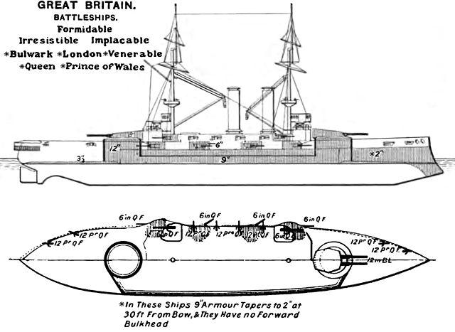 HMS Formidable class battleship Brassey's 1906