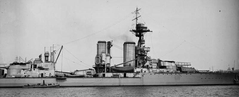 Closeup of HMS centurion