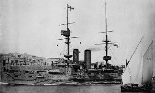 HMS Implacable in Egypt