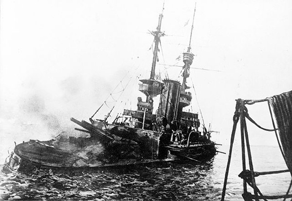 HMS Irresistible abandoned March 1915