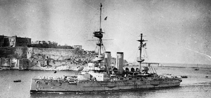 HMS London in Malta, 1915