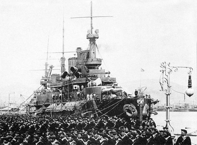 Sevastopol arriving at Port Arthur in February 1904