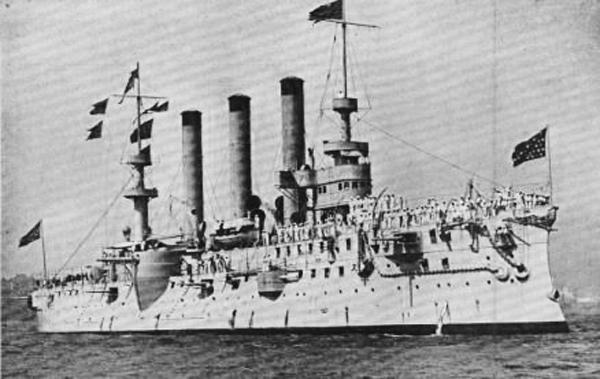 USS brooklyn ACR3 in 1898