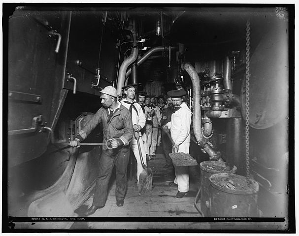 USS Brooklyn fire room