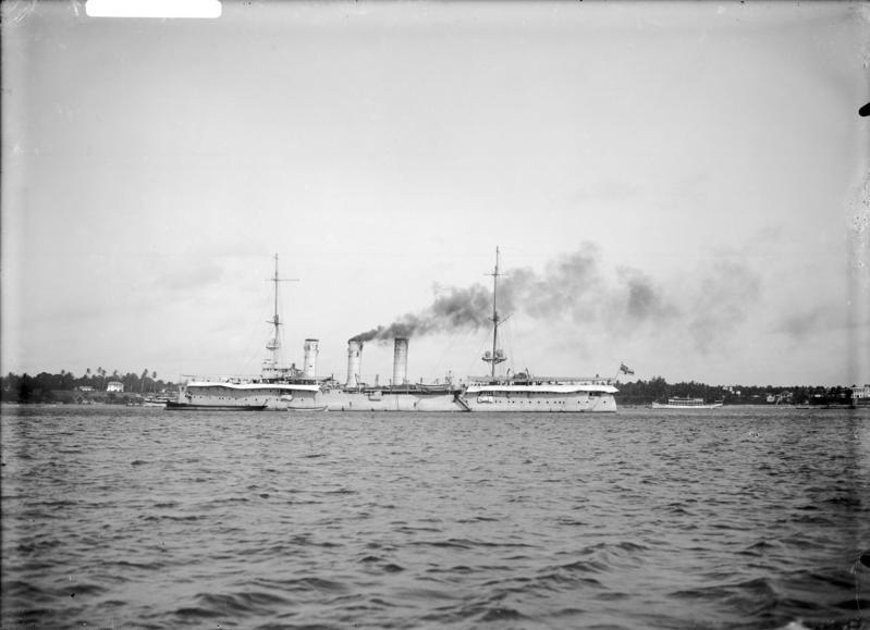 Königsberg at Bagamoyo in 1914