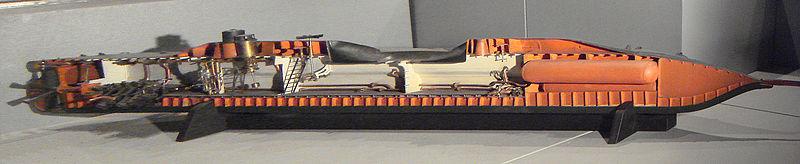 cutaway of the Plongeur