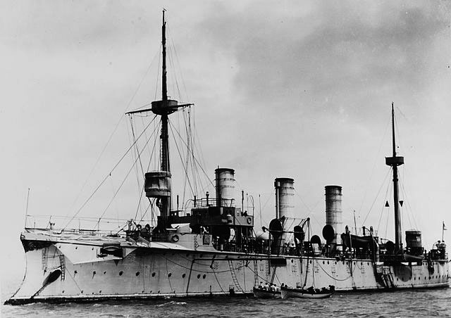 SMS Gefion at anchor in the 1890