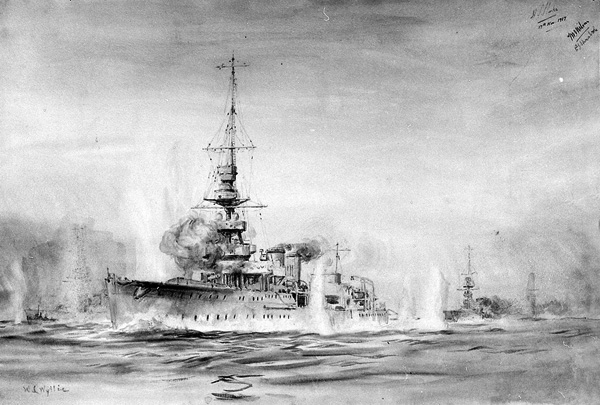 second battle helgoland drawing