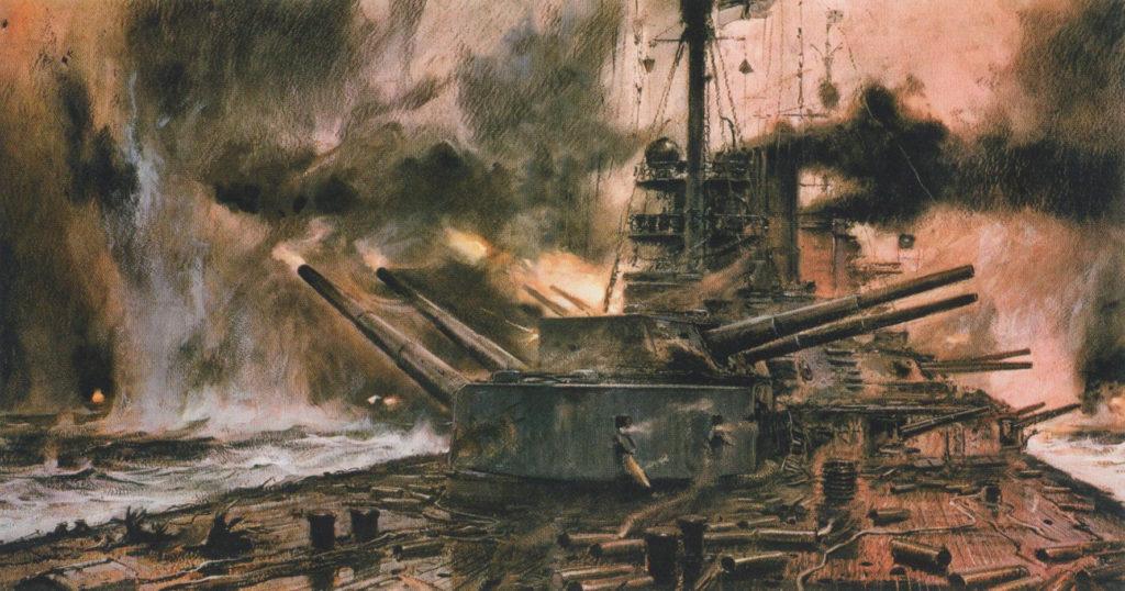 SMS Seydlitz at Jutland, by Carl Bergen