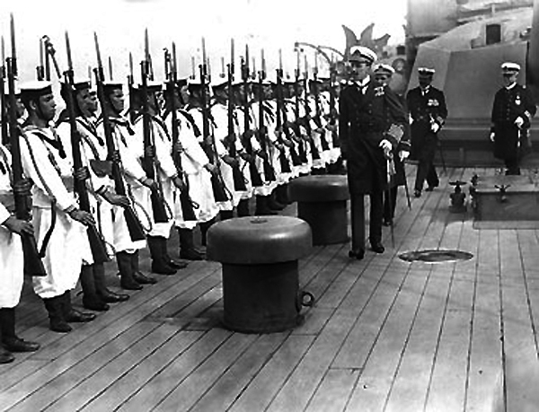 Alfonso XIII during a naval review in 1915