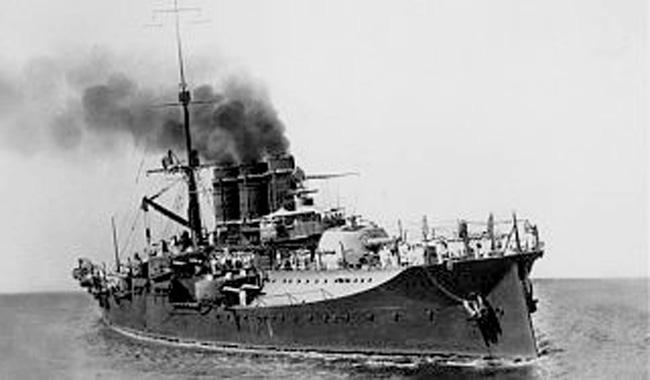 Battleship Napoli cica 1909