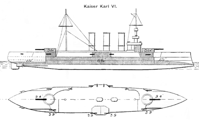 Kaiser Karl-VI Brasseys 1915