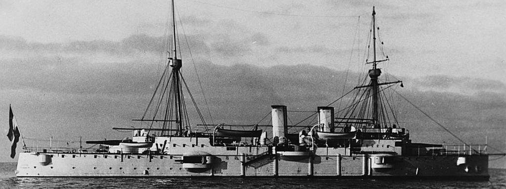 The Austro-Hungarian cruiser Kaiserin Elisabeth