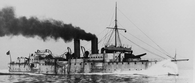 SMS_Kaiserin_Elisabeth_sea_trials