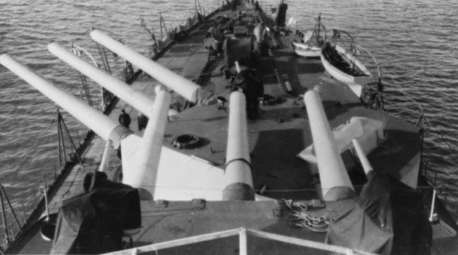 SMS Prinz Eugen guns