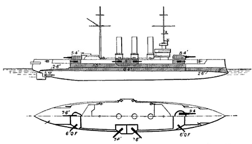 SMS Sankt Georg line drawing