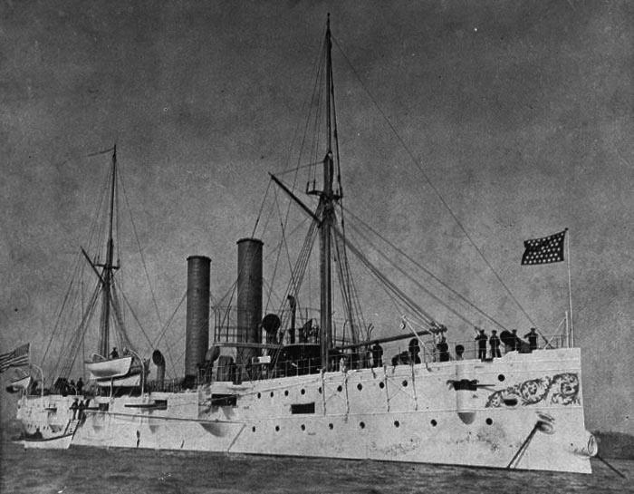 USS Detroit C10, montgomery class cruisers, circa 1895