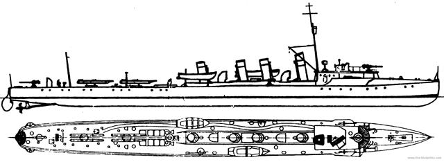 Blueprint of HMS Wale