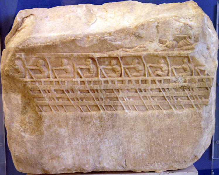 Bas-relief trireme