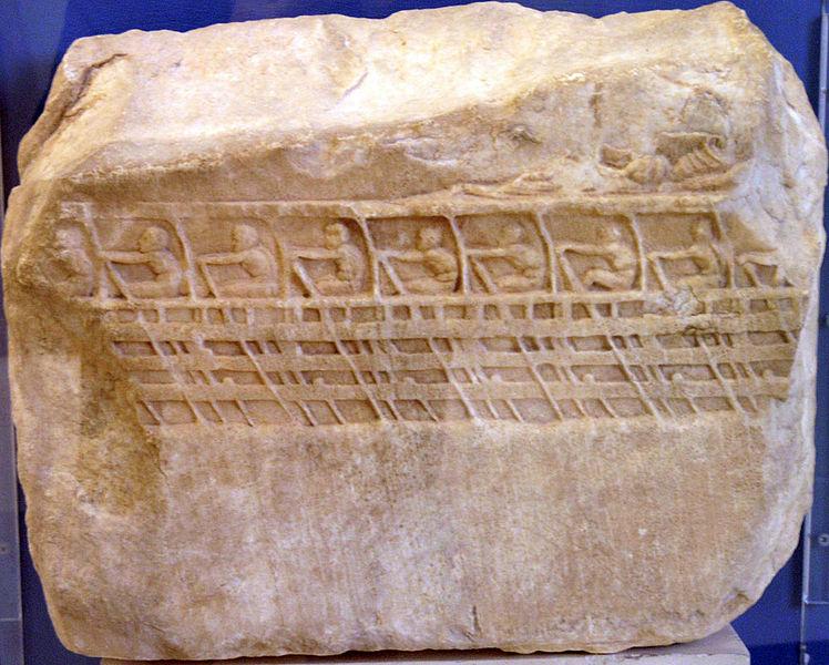 Bas-relief trireme