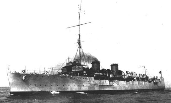 Brazilian cruiser Bahia as built
