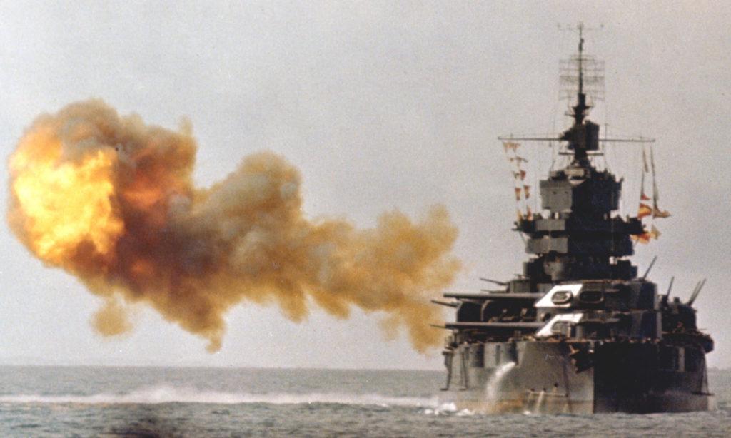 USS new Mexico firing