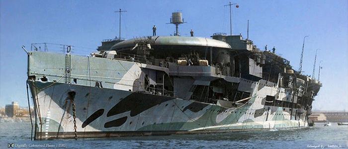 HMS Furious 1942 colorized by Hirootoko JR