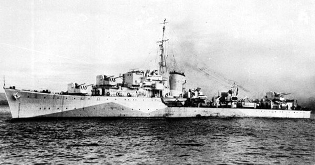 ORP Orkan in 1943