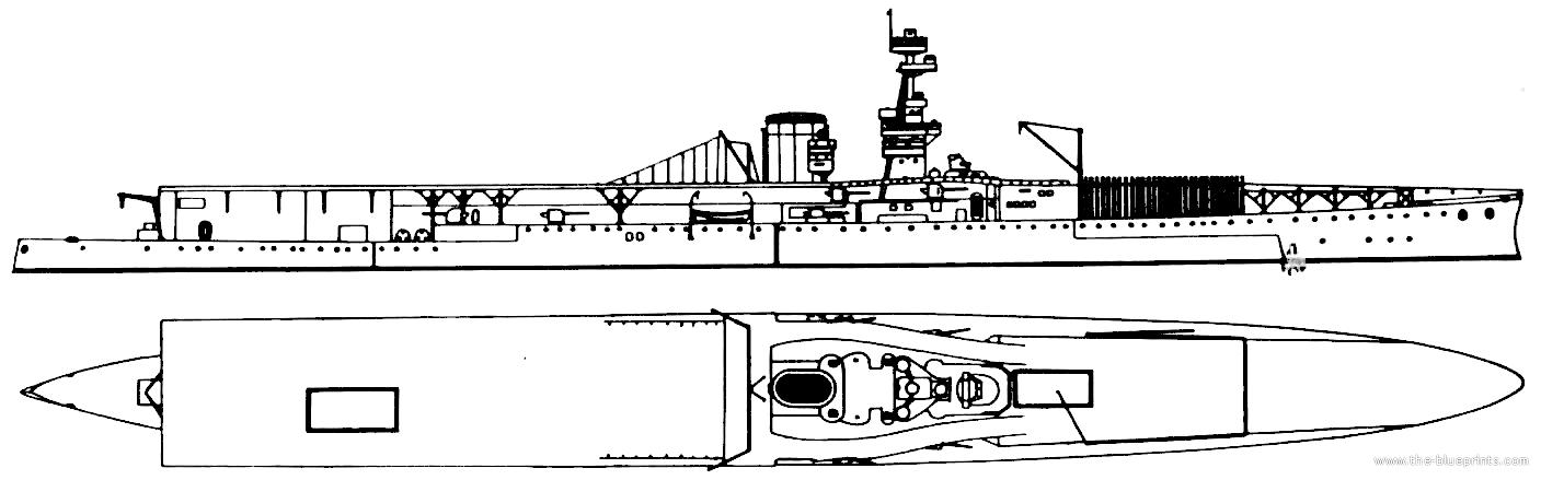 HMS Furious after reconstruction