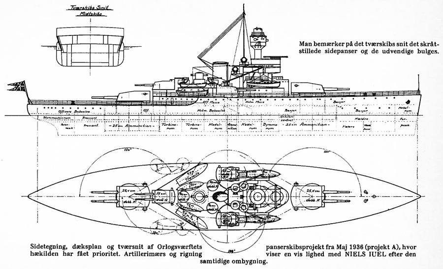Danish capital ship project, 1938