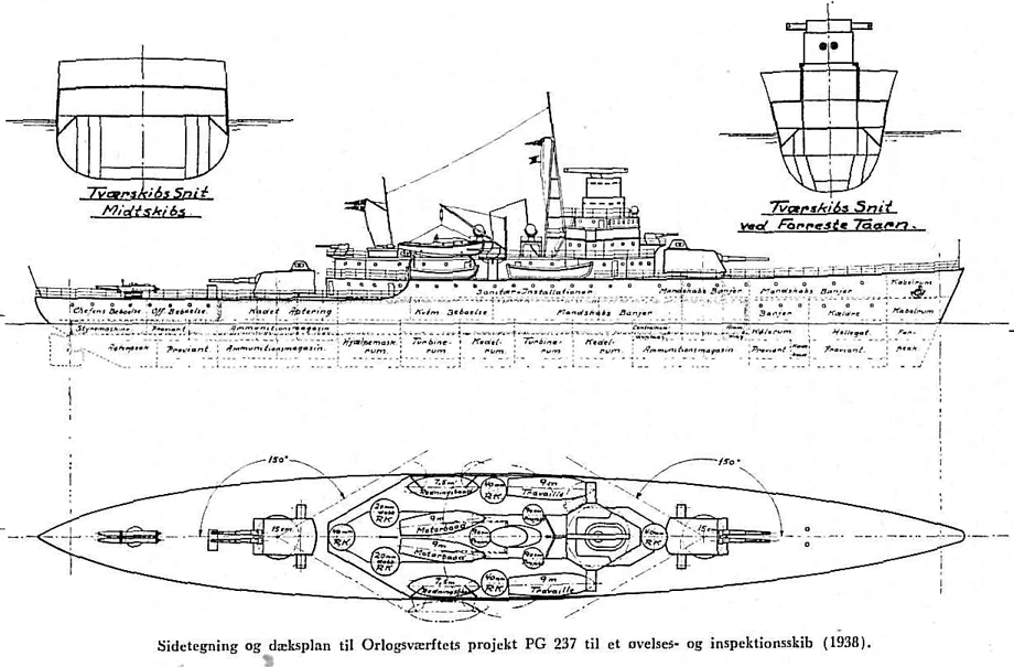 Danish coastal BS PG-237 project 1938