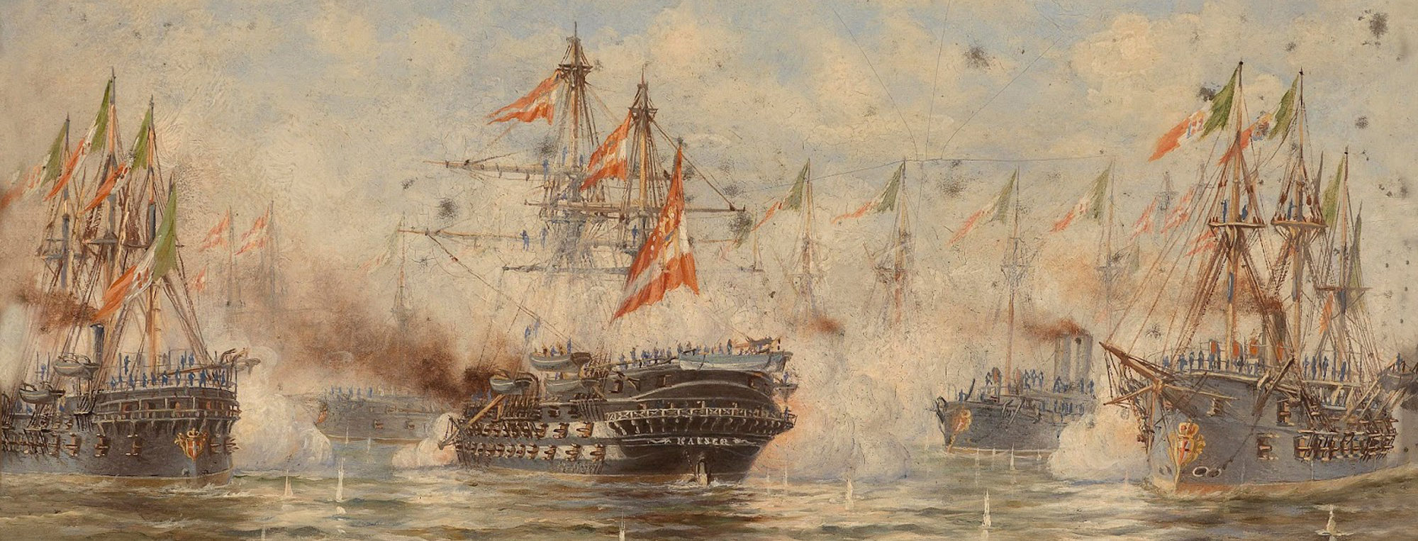 BG battle of lissa 1870s fleets
