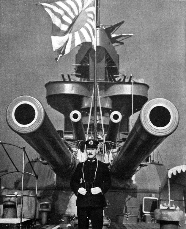 IJN Yamashiro and Vice admiral Sankichi Takahashi