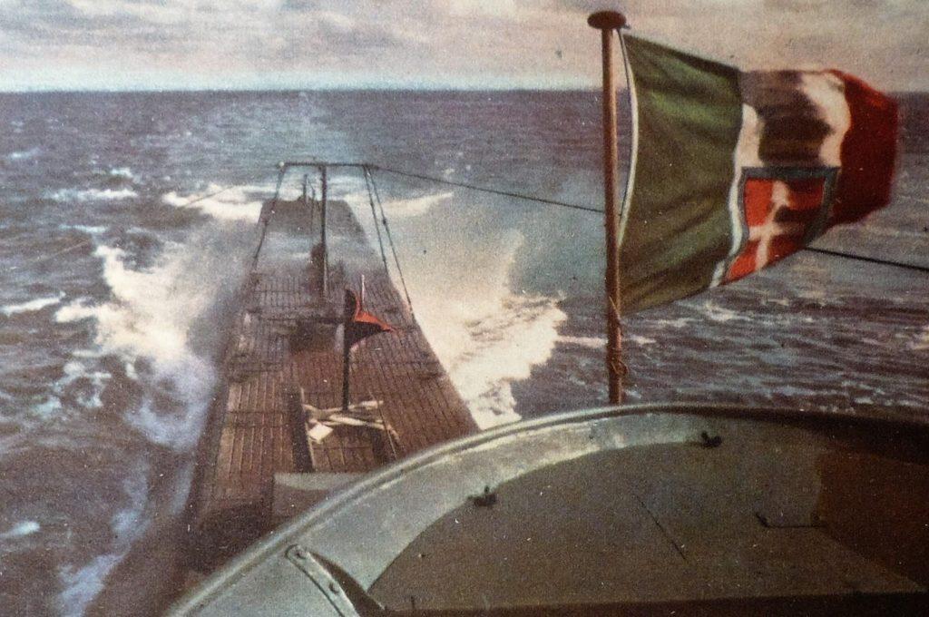 Italian sub in the atlantic