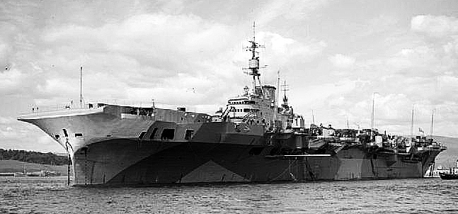 HMS Implacable 1945