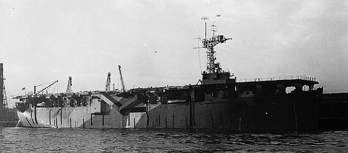 HMS Vindex just completed at Swan Hunter