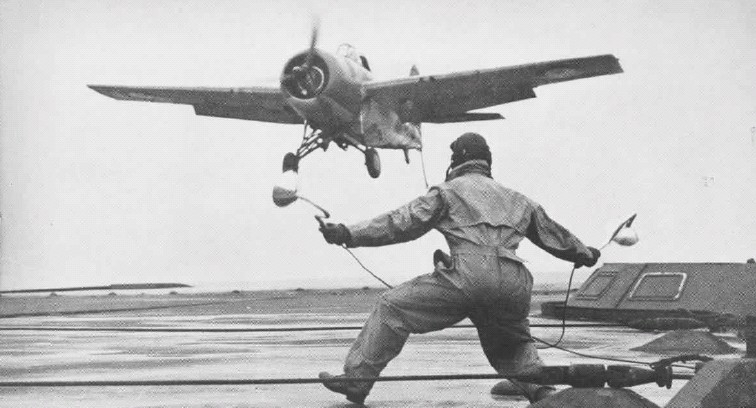 Grumann Martlet landing HMS Illustrious