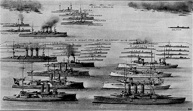 Ottoman fleet vs Greek fleet