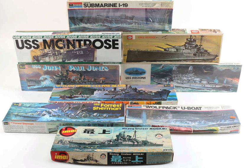 Ships model kits Monogram Revell