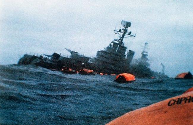 Balgrano sunk in 1982