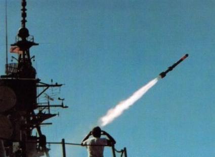 ASROC_launch_from_USS_Joseph_Strauss_1978