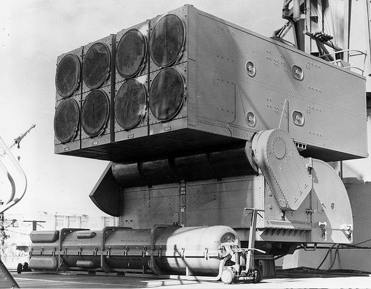 ASROC_launcher_USS_Columbus_1962