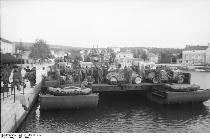 Siebel Barge in Yugoslavia