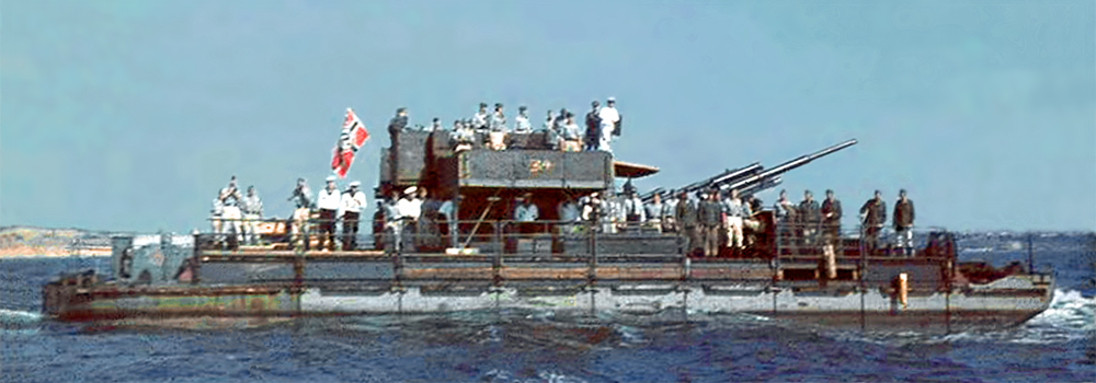 Bundesarchiv: Siebelfähre_mit 8,8 cm Flak in the Black Sea